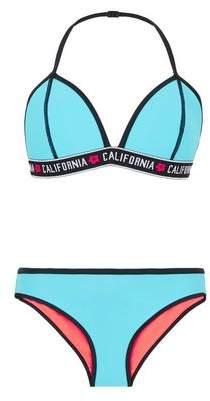 New Look Teens Bright Blue California Elastic Bikini