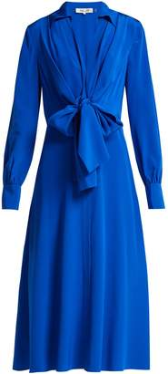 Diane von Furstenberg Von waist-tie silk dress