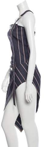 Anthony Vaccarello One-Shoulder Denim Dress w/ Tags