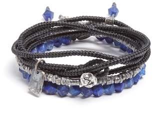 M. Cohen Set of three lapis and silver bracelets