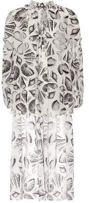 Alexander McQueen Printed silk top