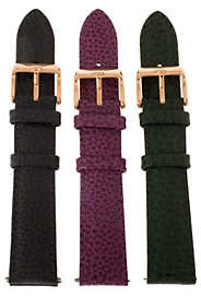 Bronze 8mm Set of 3 Leather Watch Straps by Bronzo Italia