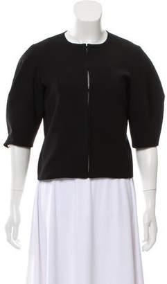 Alice + Olivia Collarless Short Sleeve Jacket