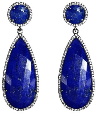 Women's Susan Hanover Semiprecious Stone Double Drop Earrings $195 thestylecure.com
