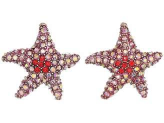 Betsey Johnson Pink Starfish Stud Earrings