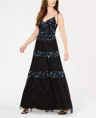 Adrianna Papell Sequin-Embellished Sleeveless Gown