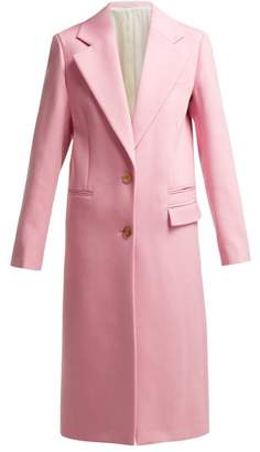 Joseph Magnus Single Breasted Wool Blend Coat - Womens - Light Pink