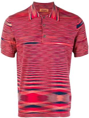 Missoni abstract patterned polo shirt