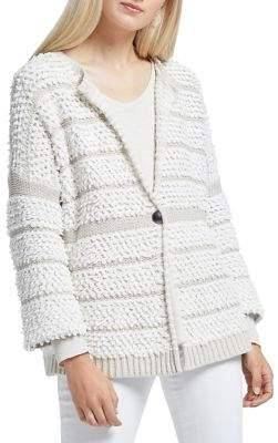Nic+Zoe Loop Up Textured Cotton-Blend Cardigan