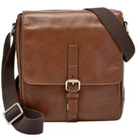 Fossil Davis Leather City Courier Crossbody Bag