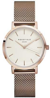 Rosefield Womens Analogue Classic Quartz Watch with Stainless Steel Strap TWRT50