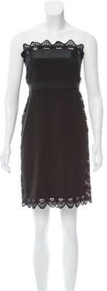 Philosophy di Alberta Ferretti Lace Strapless Dress
