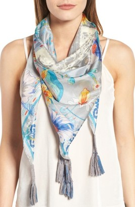 Women's Johnny Was Ellyna Square Silk Scarf $100 thestylecure.com