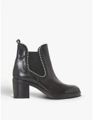Dune Black Paxtton studded leather chelsea boots