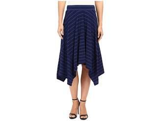 Mod-o-doc Tonal Tencel Stripe Handkerchief Stripe Skirt Women's Skirt