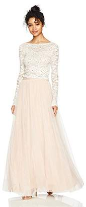 Jump Junior's Two Piece Sleeve Bethany Lace Long Prom Dress