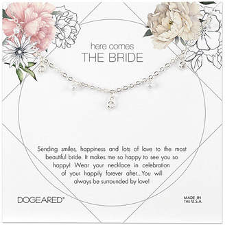 Dogeared Bridal Collection Silver 1-2Mm Pearl & Crystal Necklace