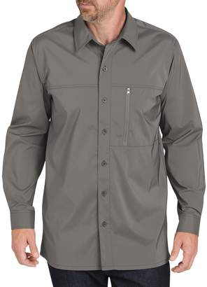 Dickies Men's Regular-Fit Zip-Pocket Moisture-Wicking Button-Down Work Shirt