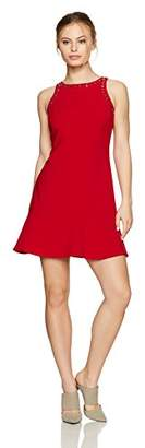 Ellen Tracy Women's Petite Sleeveless Flounce Hem Dress