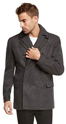 Jack and Jones Men's Euro Slim Fit Wool Peacoat Jacket by Tim