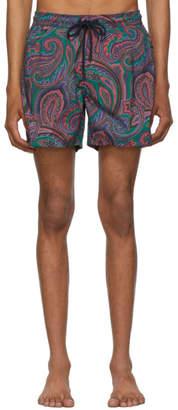 Etro Multicolor Paisley Swim Shorts