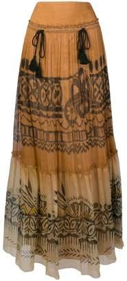 Alberta Ferretti long patterned skirt