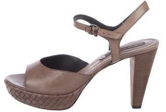 Alberto Fermani Leather Ankle-Strap Sandals