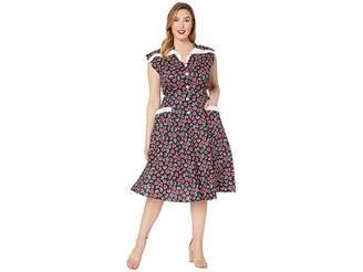 fb2a61671f6 Unique Vintage Plus Size 1950s Style Cap Sleeve Hedda Swing Dress