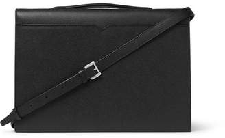 Valextra Pebble-Grain Leather Briefcase - Men - Black