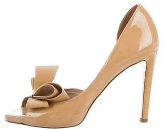 Valentino Bow Peep-Toe Pumps