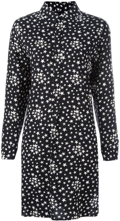 Saint LaurentSaint Laurent star print shirt dress