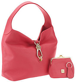 As Is Dooney & Bourke Leather Hobo w/ Logo Lock and Accessories $104 thestylecure.com