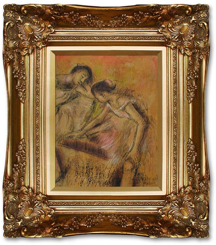 Overstockart 10'' x 8'' ''Dancers in Repose'' Large Framed Canvas Wall Art by Edgar Degas