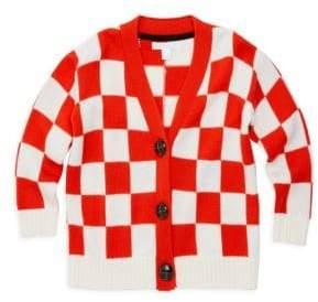 Burberry Little Girl's& Girl's Nela Checkered Merino Wool Cardigan