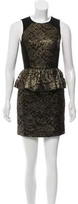 Tibi Lace Metallic Dress