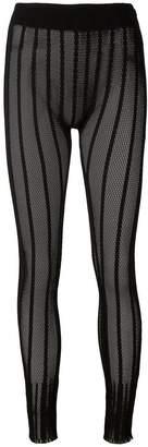 Issey Miyake striped mesh leggings