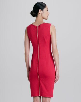 Elie Tahari Patrina Zipped Back Sheath Dress