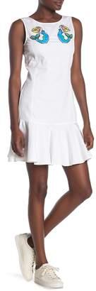 Love Moschino Embroidered Sleeveless Dress