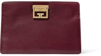 Givenchy Gv3 Textured-leather Shoulder Bag - Burgundy