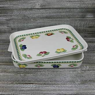 Villeroy & Boch French Garden Large Baking Dish With Lid/Serving Plate