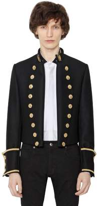 Short Wool Cloth Military Jacket