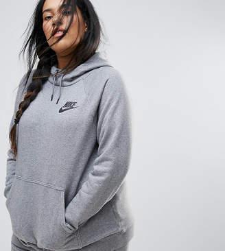 Nike Plus Rally Pullover Hoodie In Grey