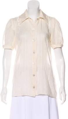 Stella McCartney Pom-Pom Short Sleeve Top