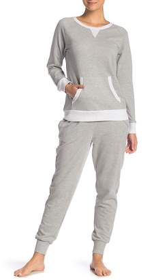 Couture PJ Heather Grey Long Sleeve Sweatshirt & Sweatpants Set