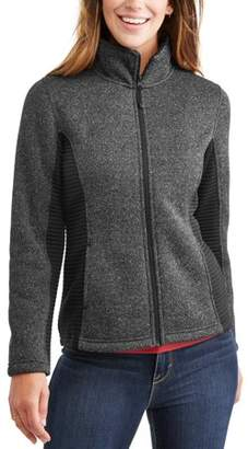 Time and Tru Women's Sweater Fleece Jacket