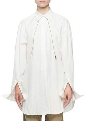 Stella McCartney Convertible Oversized to Fitted Blouse