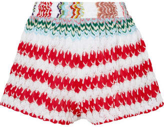 Missoni Mare Donna Crochet-knit Shorts - Red
