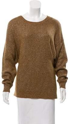 By Malene Birger Metallic Dolman Sleeve Sweater