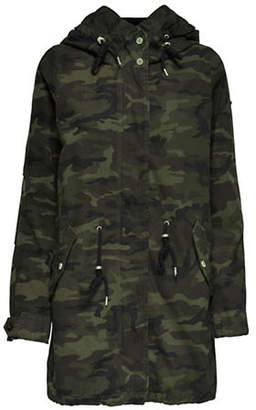Only Favourite Camo Long-Sleeve Parka