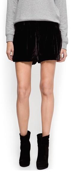 MANGO Velvet shorts